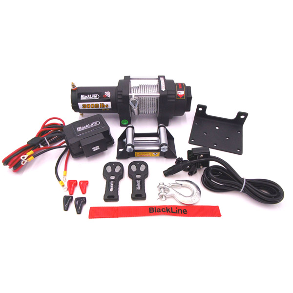 Blackline 3000lb, 12v Electric Wire Winch