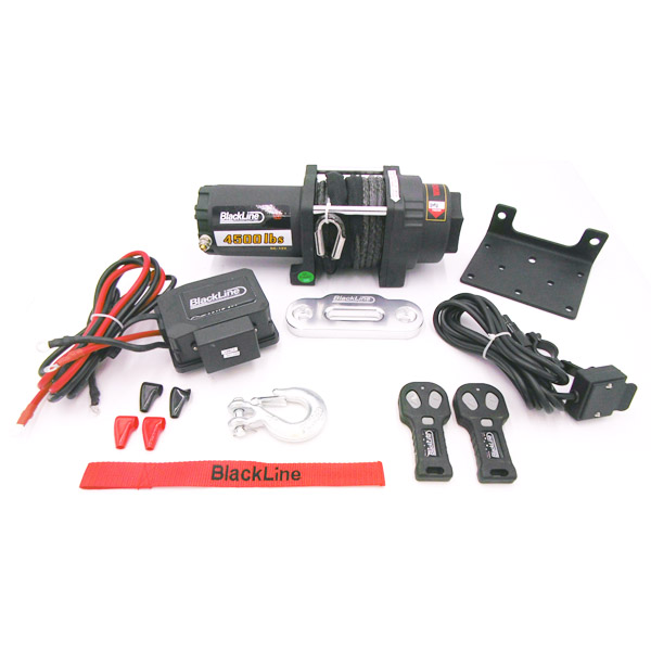Blackline 4500lb, 12v Electric Rope Winch